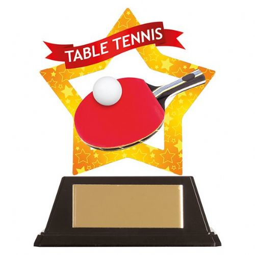 Mini-Star Table Tennis Acrylic Plaque 100mm